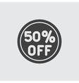 50 sale icon vector image