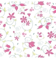 Spring Flower Swirls Seamless Pattern vector image vector image