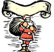 Santa Claus Scroll vector image vector image