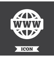WWW sign icon World wide web symbol vector image
