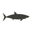 Big Shark Outline Icon vector image