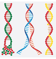 Broken DNA chains vector image