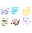 color crayons hand drawing abstract on white vector image