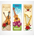 Music instruments banners vector image