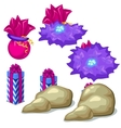 Purple gift boxes for games or other design needs vector image