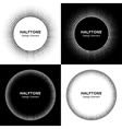 Set of Abstract Halftone Circles vector image
