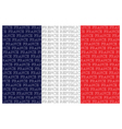 The French Republic Text Flag vector image