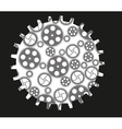 Isolated Gears vector image