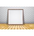 Mock up for presentation framed signboard standing vector image