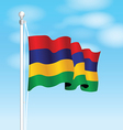 mauritius flag vector image vector image