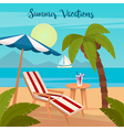 Tropical Paradise Exotic Island with Palm Trees vector image