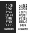 alphabet cyrillic and latin lettering vector image