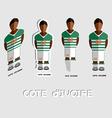 Cote dIvoire Soccer Team Sportswear Template vector image