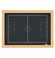 Football field on blackboard vector image