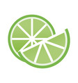 fresh lemon and slice citrus ingredient drink vector image