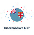 independence day of fiji patriotic banner vector image