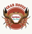 Sea food restaurant emblem vector image