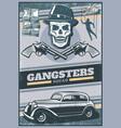 vintage colored gangster poster vector image