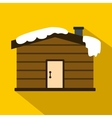 Winter house icon flat style vector image