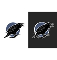 Black Crow two options vector image