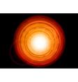 orange hole vector image