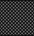 white dot in diamond shape on black background vector image