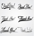 Thank You Hand Leterring vector image