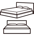 simple with beds vector image