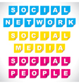 social word on paper note vector image