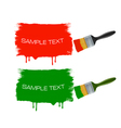 paintbrushes vector image vector image