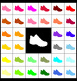 boot sign felt-pen 33 colorful icons at vector image