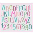 Doodle colorful kids font vector image