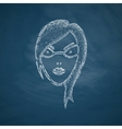 face girl icon vector image