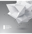 Low polygon geometry shape vector image