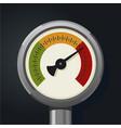 retro manometer realistic vintage pressure gauge vector image