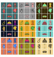 set of icons in flat design winter sports outfit vector image