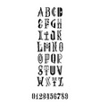 the painted latin font for posters and postcards vector image