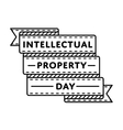 World Intellectual Property day greeting emblem vector image