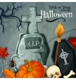 Halloween holiday greeting Trick or Treat card vector image vector image