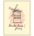 Moulin Rouge hand drawn sketch vector image