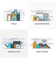 flat line designed concepts 10-colored vector image