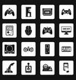 video game icons set squares vector image
