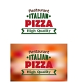 Italian Pizza high quality banner or label vector image vector image