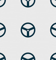 Steering wheel icon sign Seamless abstract vector image