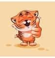 Tiger cub thumb up vector image