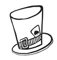 simple black and white mad hatters hat vector image