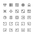 User Interface Colored Line Icons 16 vector image