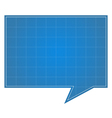 Blueprint Speech Bubble vector image vector image