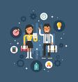 Business People Male and Femelae Cartoon vector image