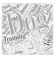 dog obedience training Word Cloud Concept vector image